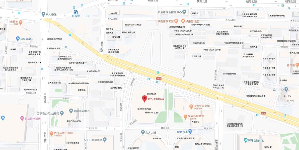 北京公司总部:北京市东城区朝阳门银河soho-D座8层50815